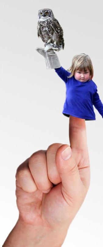Фотожабы на девочку с совой - новый тренд в Интернет!