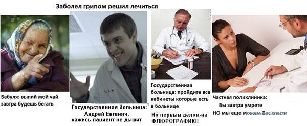 Заболел гриппом - решил лечиться Прикольные картинки на fun.tochka ...