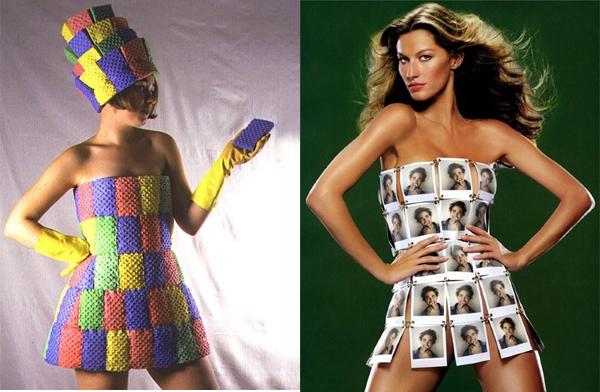 Платья из подручных материалов поэтапно