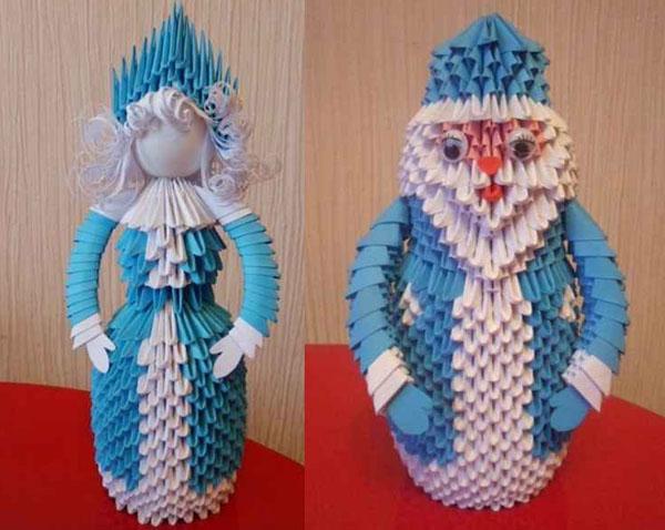 Поделки к новому году из оригами своими руками