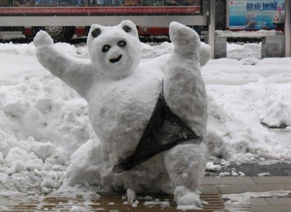 Подборка прикольных снеговиков