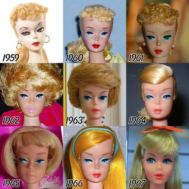 Как менялась кукла Барби с 1959 по 2015