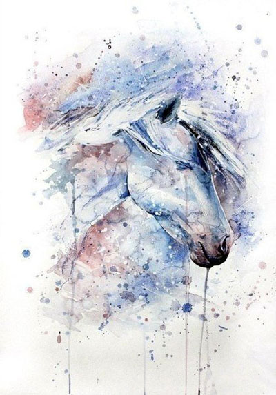 Красивые лошади акварелью прикольные