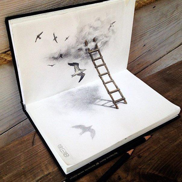 Необычные рисунки Julia Barminova