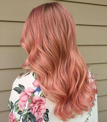 Окрашивание волос блоранж