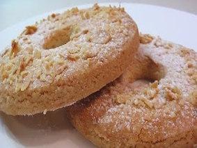Песочное пироженое с миндалем