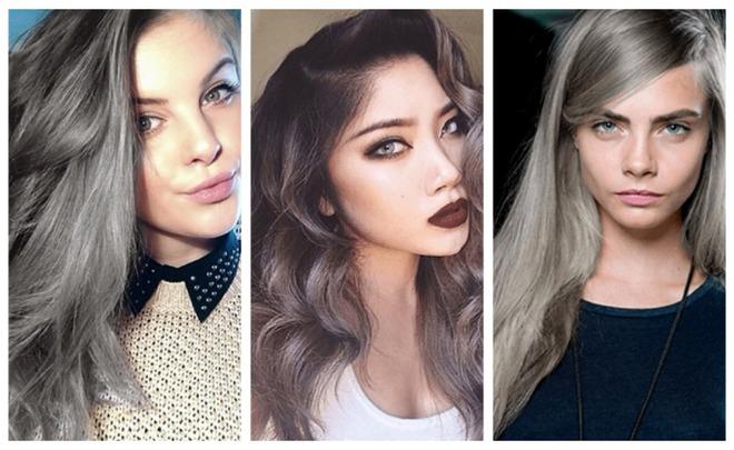 Сиве волосся - модне фарбування 2016