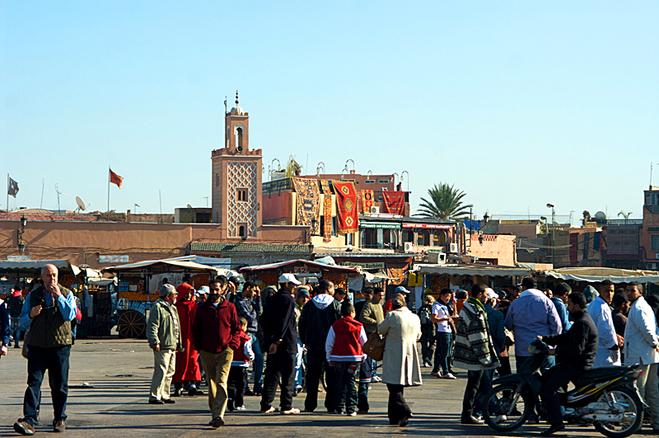 Достопримечательности Марракеша: площадь Джемаа-эль-Фна