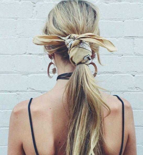 Зачіски з хусткою