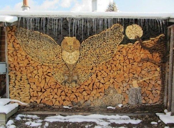 Правильно сложенные дрова