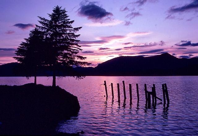 Закаты солнца: Loch Linnhe, Шотландия