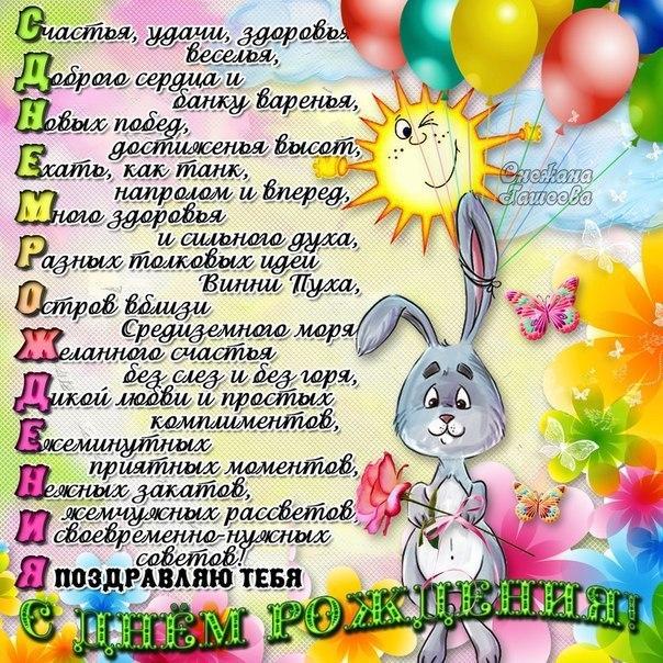 Красивые пожелания ко дню рождения