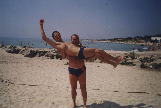 Сергій Притула з татом