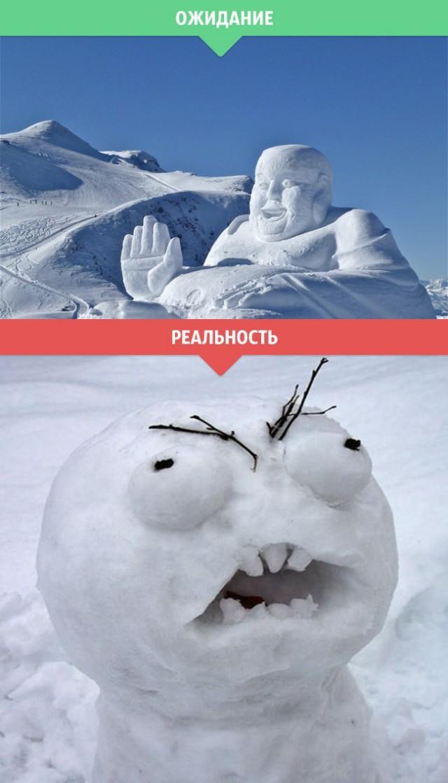 Зима. Ожидание и реальность