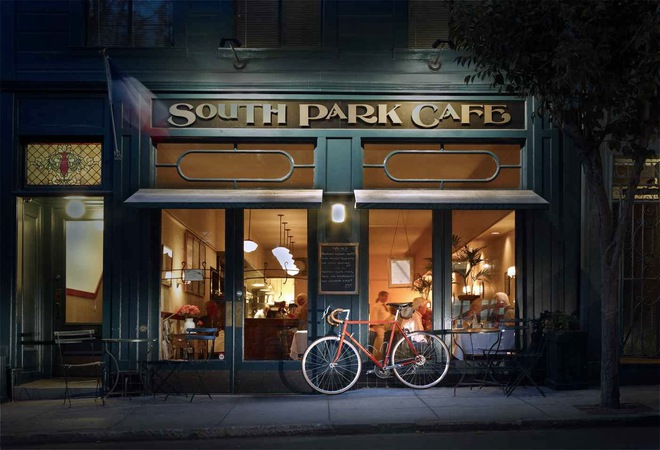 Кінотуризм: Жасмин. South Park Café San Francisco