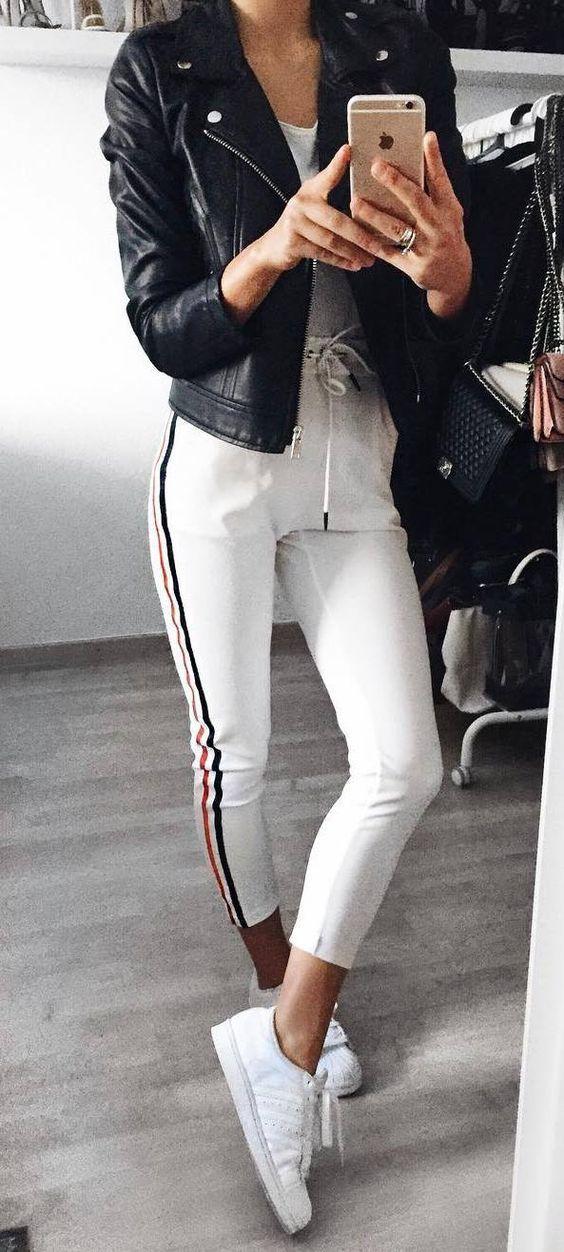 Тренд 2018: штаны с лампасами