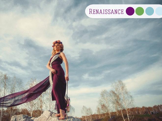 Стильные свадебные оттенки: renaissance