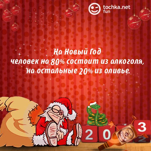 Пьяный Дед Мороз про Новый год и человека