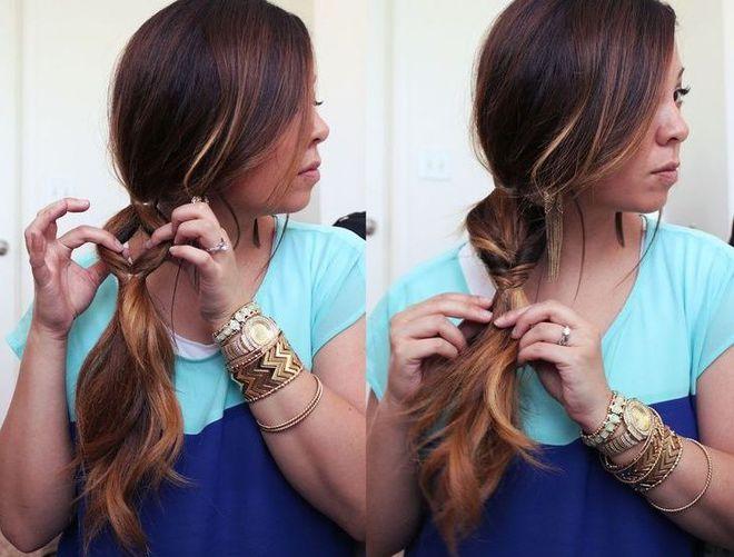 Несправжня коса в стилі Рапунцель