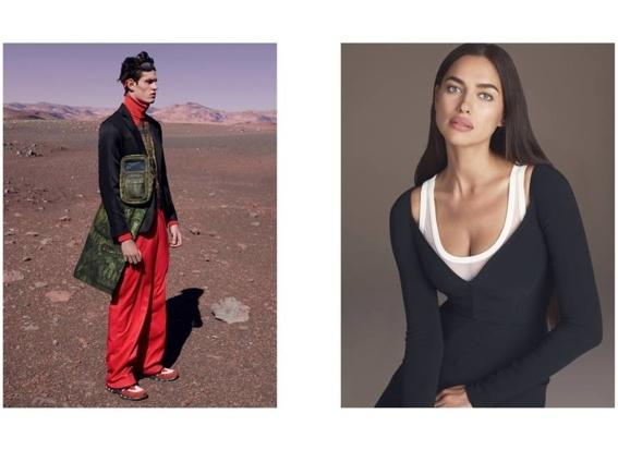 Ирина Шейк и трансексуальная модель в элегантном кампэйне Givenchy