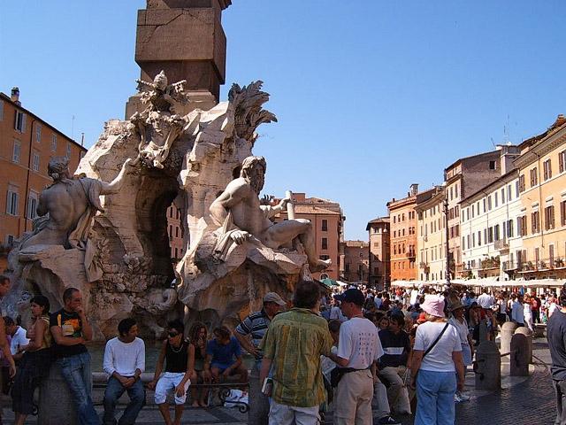 Цікаві місця Риму: Пьяцца Навона