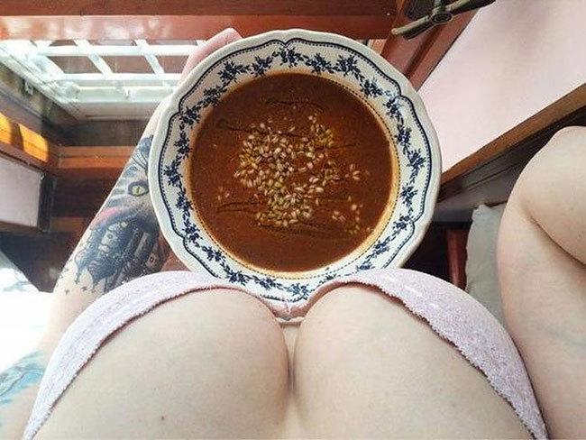 Вкусный завтрак глазами женщины