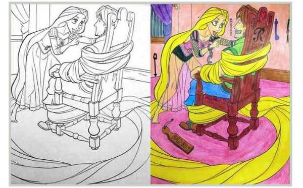 Папина фантазия и безобидные раскраски