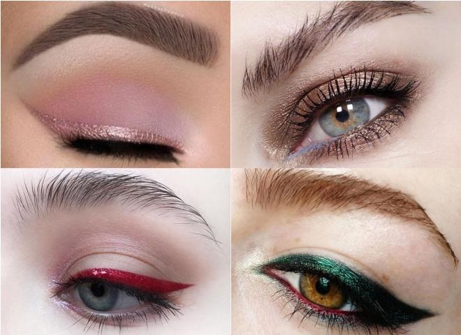 Новогодние тренды в макияже: блестящие стрелки и монохромные губы