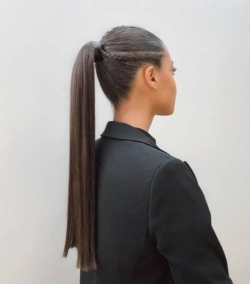 Стильный хвост на грязные волосы