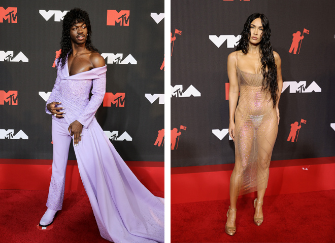 Lil Nas X и Меган Фокс на MTV Video Music Awards 2021
