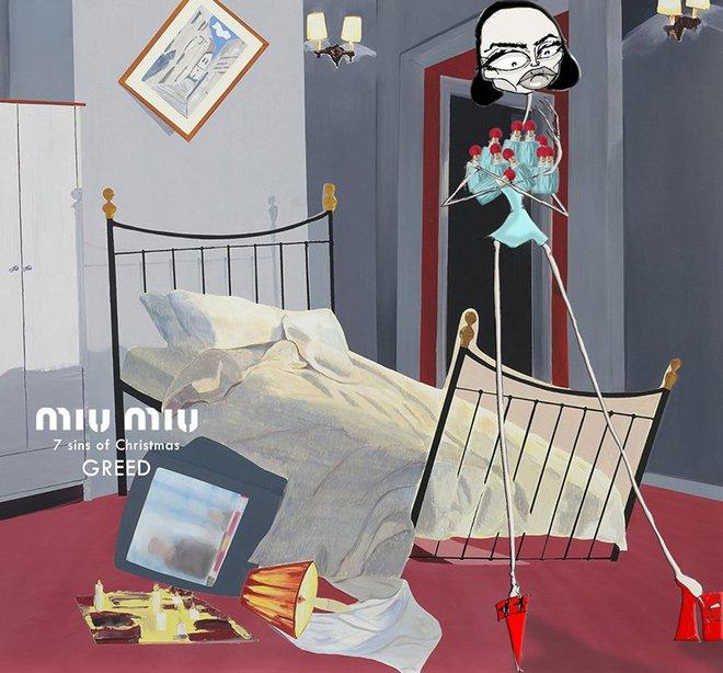 7 смертных грехов в иллюстрированной рекламной кампании Miu Miu