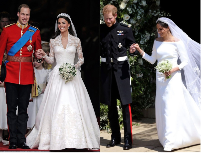 Кейт Миддлтон и Меган Маркл (свадебное платье)