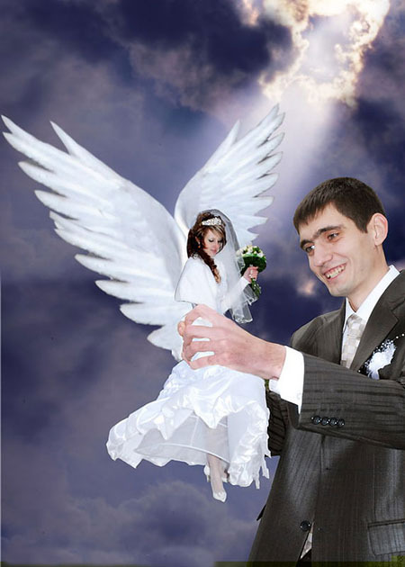Ржачные отфотошопленные свадебные фото