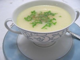 Суп-крем из цветной капусты с рисом