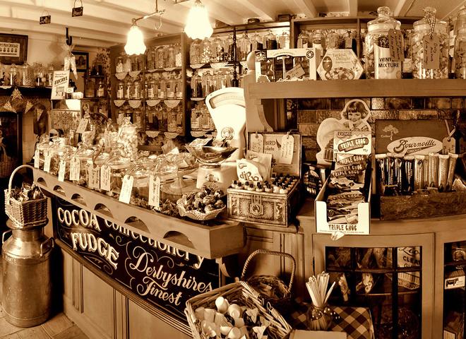 Вінтажний магазин цукерок