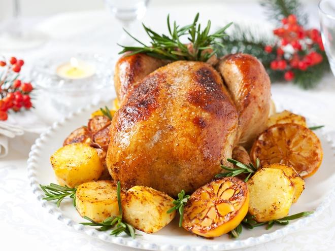 блюда горячие из мяса на Новый год, индейка