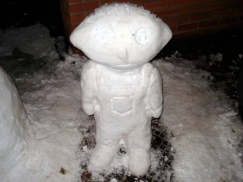 Веселые снеговики