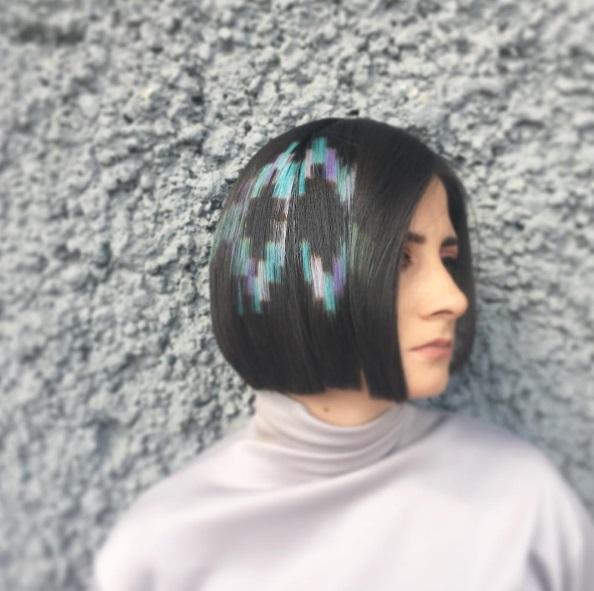 """""""пиксельное"""" окрашивание волос"""