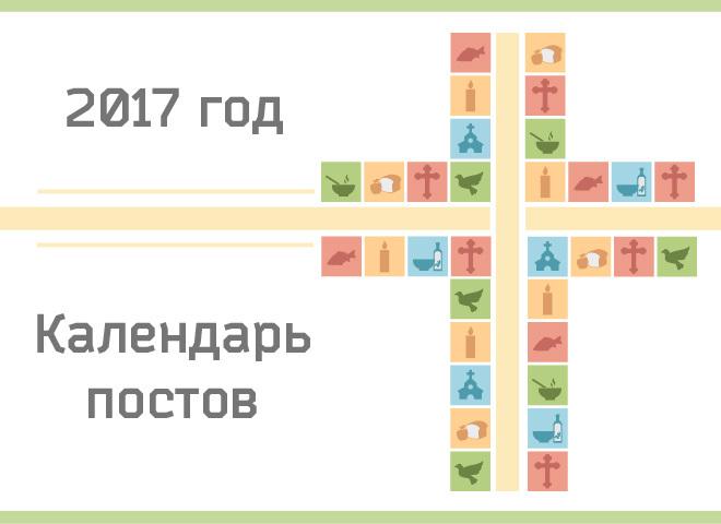 Календарь православных постов и трапез на 2017 год