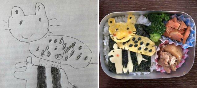 Шедевры ребенка на тарелке от Takafumi Ozeki