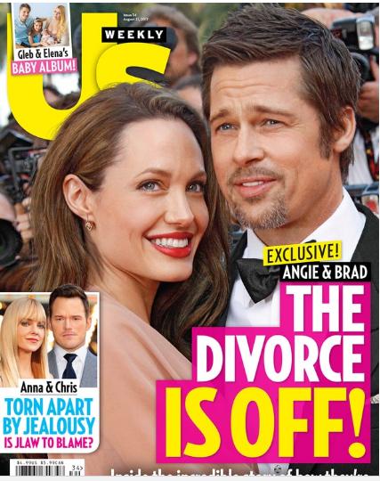СМИ: Анджелина Джоли и Брэд Питт передумали разводиться