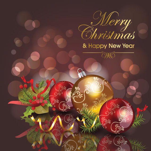 Яркая открытка на Рождество
