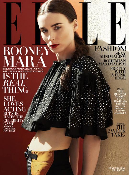 Руни Мара на обложке Elle