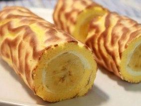 Рулет с бананом