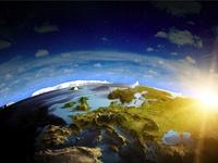 Прекрасная Земля с помощью 3д графики