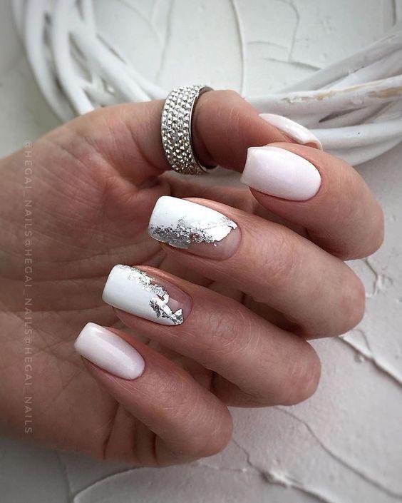 Манікюр в білому кольорі з дизайном: модні ідеї