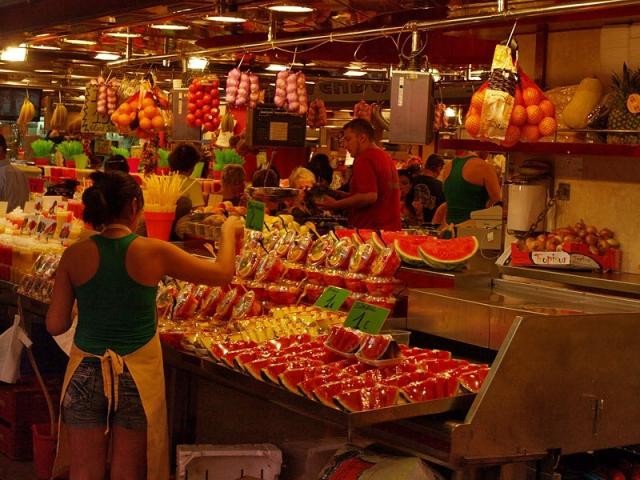 Достопримечательности Барселоны, рынок Бокерия