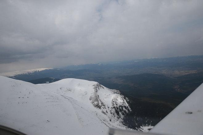 Вид на горы из самолёта