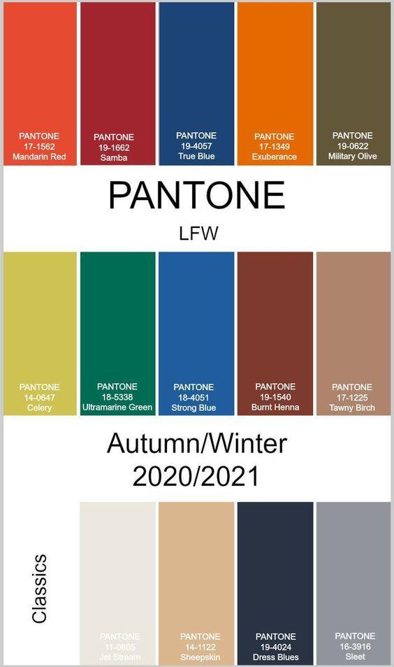 Цвета осень-зима 2020/21