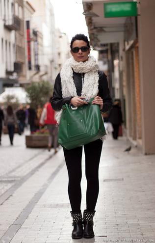 Байкерські черевики: street style